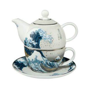 """Набор чайник-чашка """"Большая волна"""" фарфор 350 мл"""