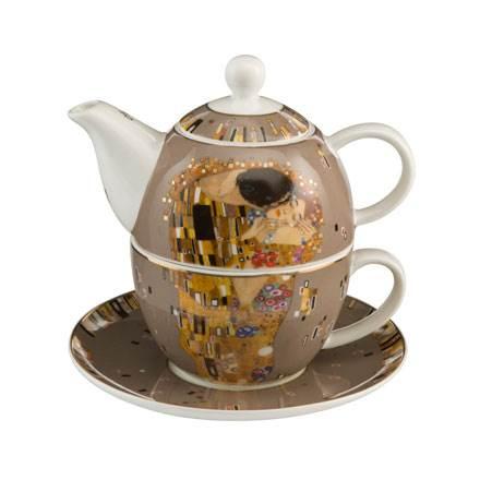 "Набор чайник-чашка ""Поцелуй"" фарфор 350 мл"