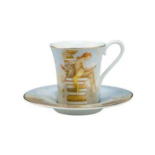 """Набор для кофе """"Экс Либрис /Из книг"""" чашка демитассе 100 мл, блюдце"""