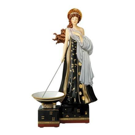 """Фарфоровая скульптура """"Священный огонь"""", декор золото. Лимитированный выпуск 500шт., сертификат"""