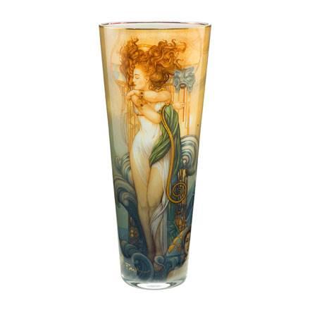 """Стеклянная ваза """"Венера"""", декор золото"""