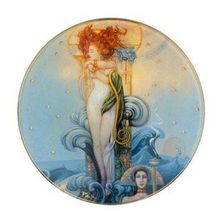 """Стеклянная чаша """"Венера"""", декор золото"""