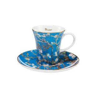 """Набор для кофе """"Цветущие ветки миндаля"""" чашка демитассе 100 мл, блюдце"""