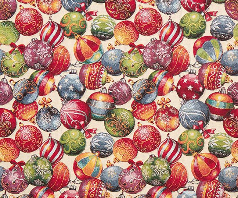 """Новогодняя гобеленовая прямоугольная и круглая скатерть """"Новогодний переполох"""""""
