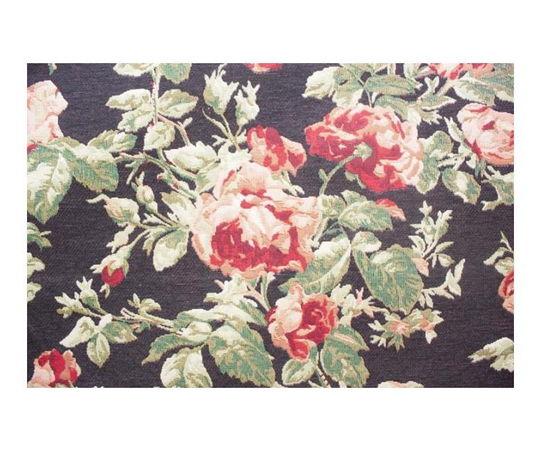 """Гобеленовая прямоугольная и круглая скатерть """"Цветущие розы"""" кремовый и темный фон"""