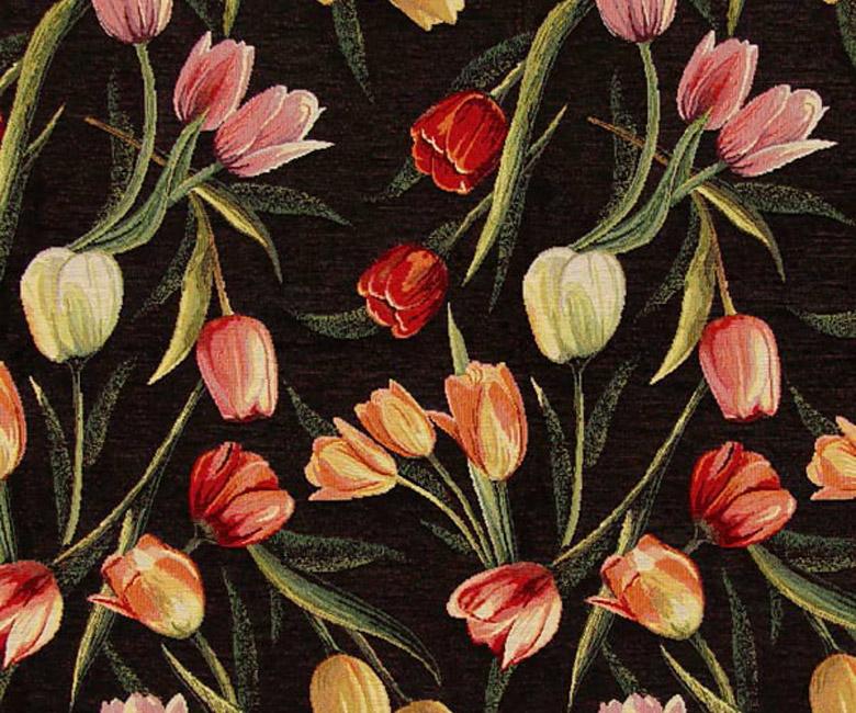 """Гобеленовая прямоугольная и круглая скатерть """"Вечерние тюльпаны"""""""