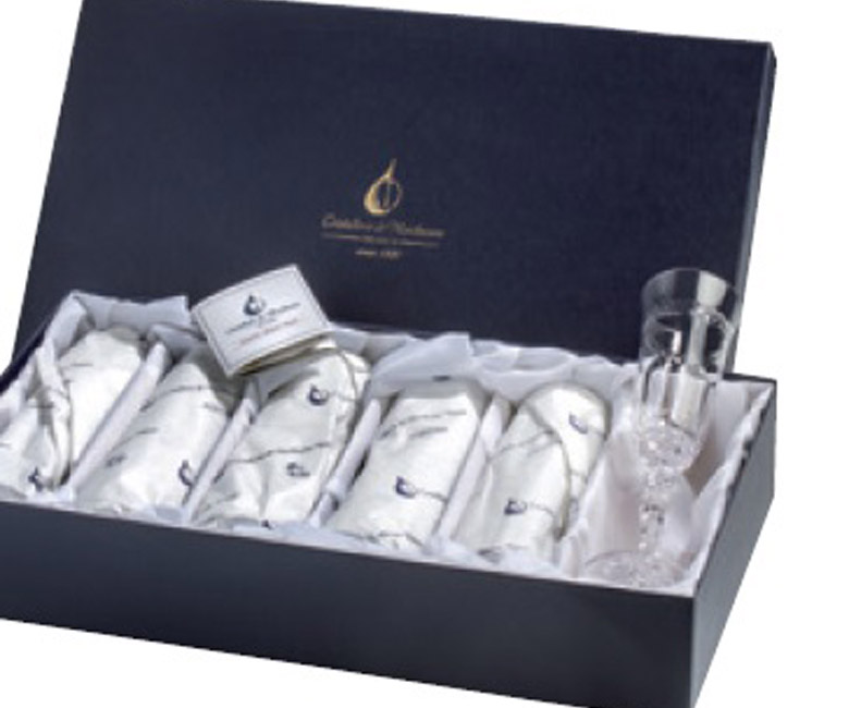 Набор хрустальных бокалов для белого вина на 6 персон Опера Золото|Платина