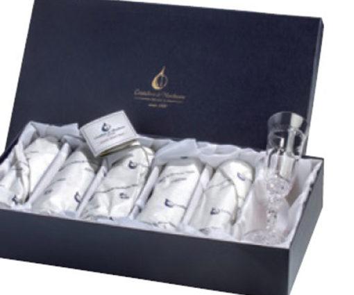 Набор хрустальных стопок для водки на 6 персон Кантата