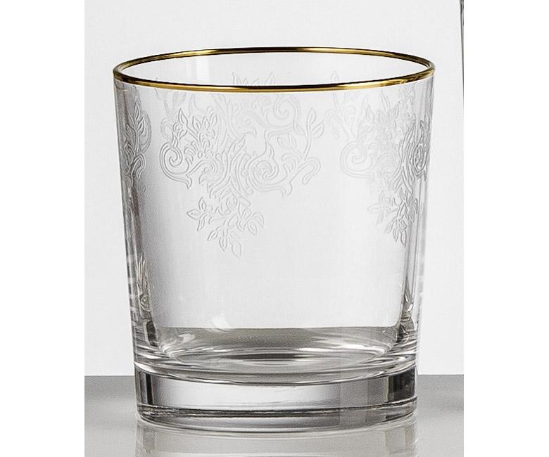 Набор хрустальных бокалов для виски на 6 персон Адажио с прозрачной гравировкой