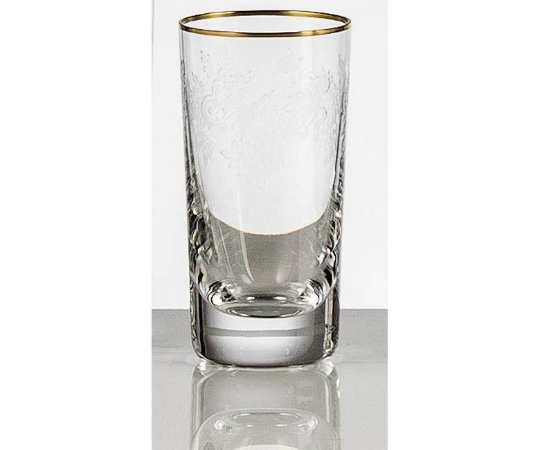 Набор хрустальных стопок для водки на 6 персон Адажио с прозрачной гравировкой