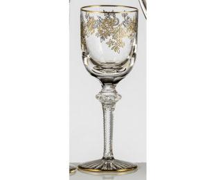 Набор хрустальных бокалов для белого вина на 6 персон Адажио Золото|Платина
