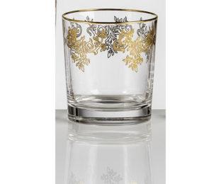 Набор хрустальных бокалов для виски на 6 персон Адажио Золото|Платина