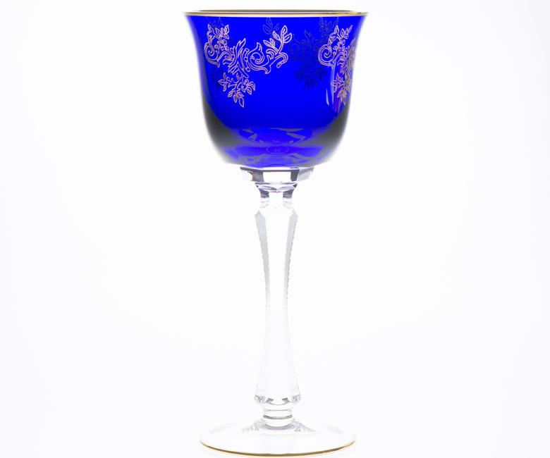 Коллекции бокалов из цветного хрусталя на 6 персон Адажио