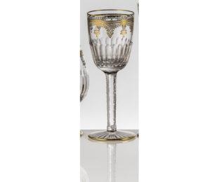 Набор хрустальных бокалов для белого вина на 6 персон Arp?ge Золото|Платина