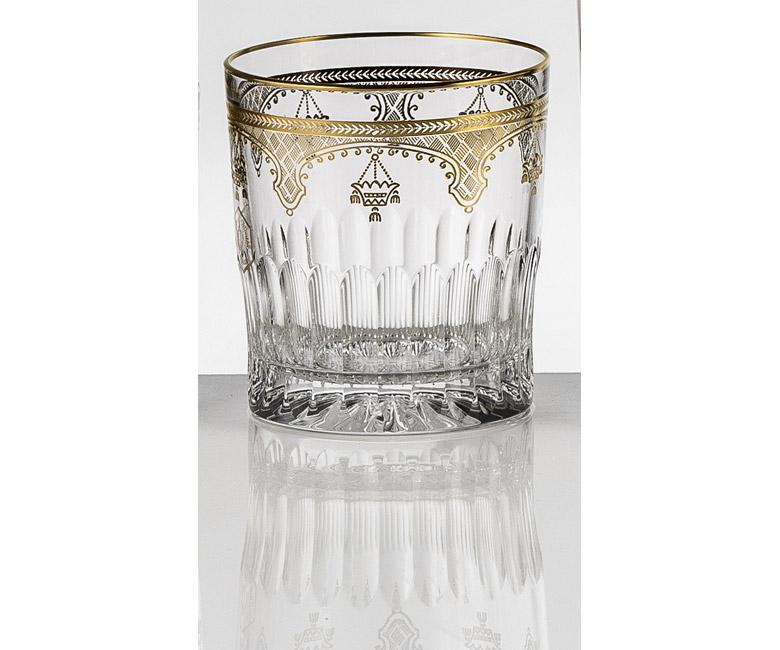 Набор хрустальных бокалов для виски на 6 персон Arp?ge Золото|Платина