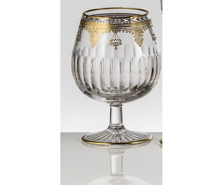 Набор хрустальных бокалов для бренди, коньяка на 6 персон Arp?ge Золото|Платина
