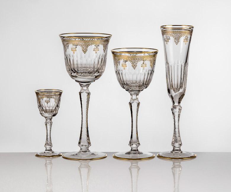 Коллекции бокалов на 6 персон Arp?ge Золото|Платина, второй вариант оформления