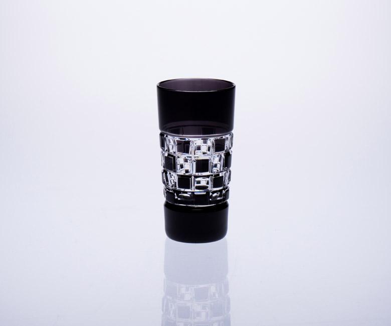 """Набор хрустальных стопок для водки на 6 персон """"Черный бриллиант"""""""