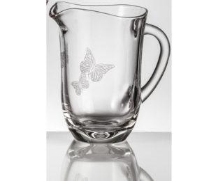 Хрустальный кувшин для воды 1,5 л Бабочки