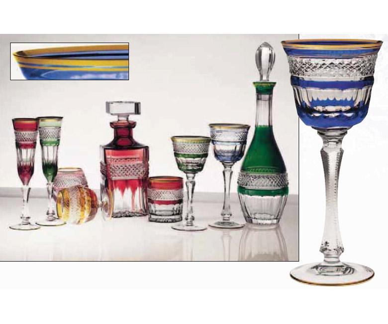 Коллекции бокалов из цветного хрусталя на 6 персон Кантата