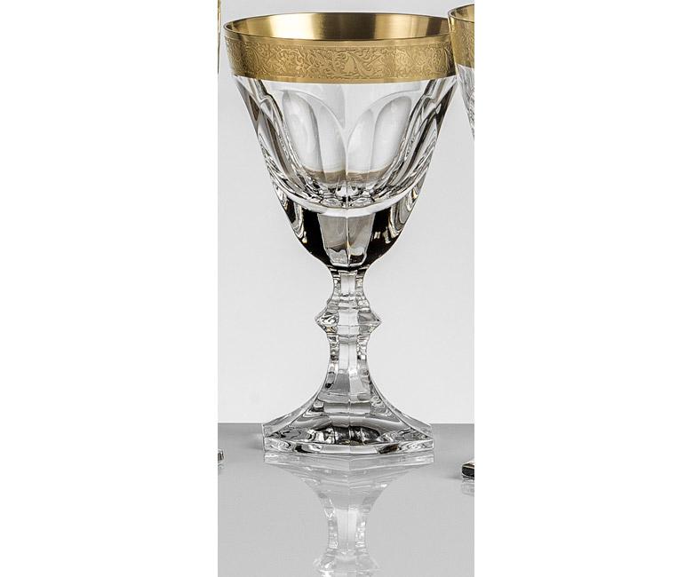 Набор хрустальных бокалов для красного вина на 6 персон Марго (Margaux) Золото | Платина