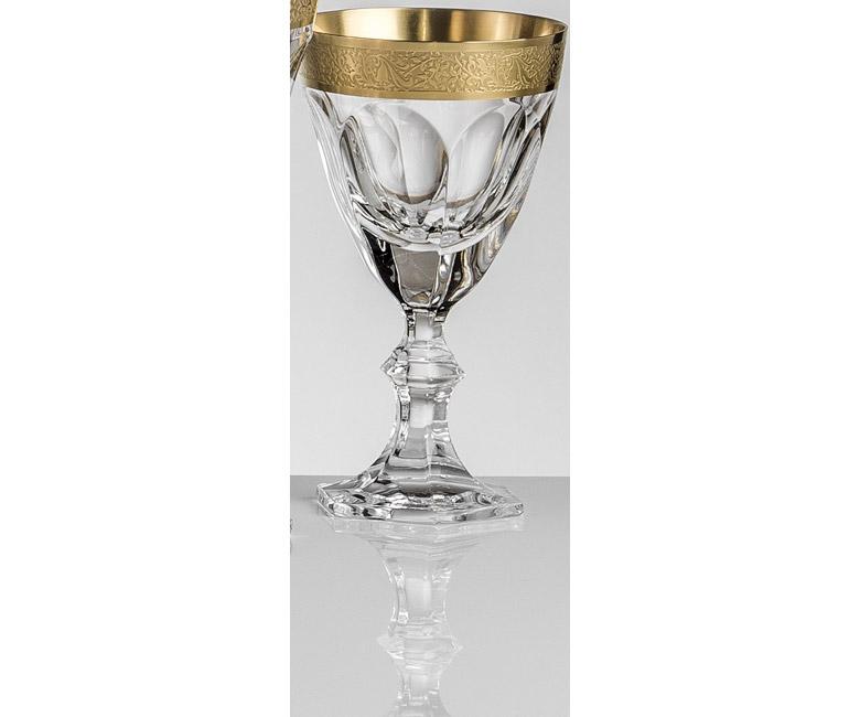 Набор хрустальных бокалов для белого вина на 6 персон Марго (Margaux) Золото | Платина