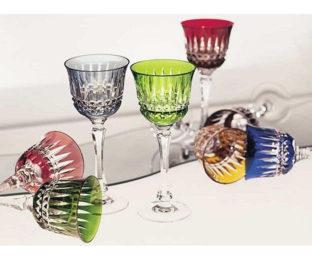 Коллекции бокалов из цветного хрусталя на 6 персон Мелодия