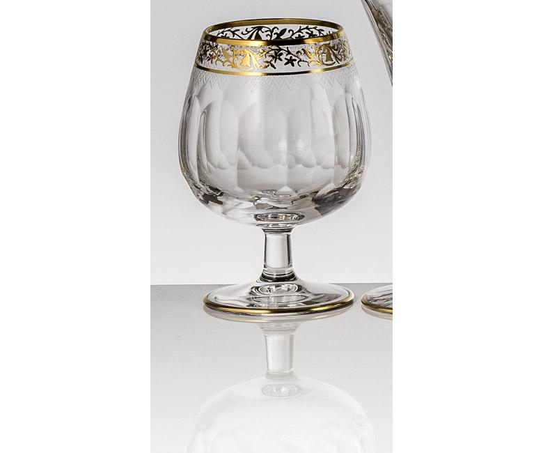 Набор хрустальных бокалов для бренди, коньяка на 6 персон Опера Золото Платина