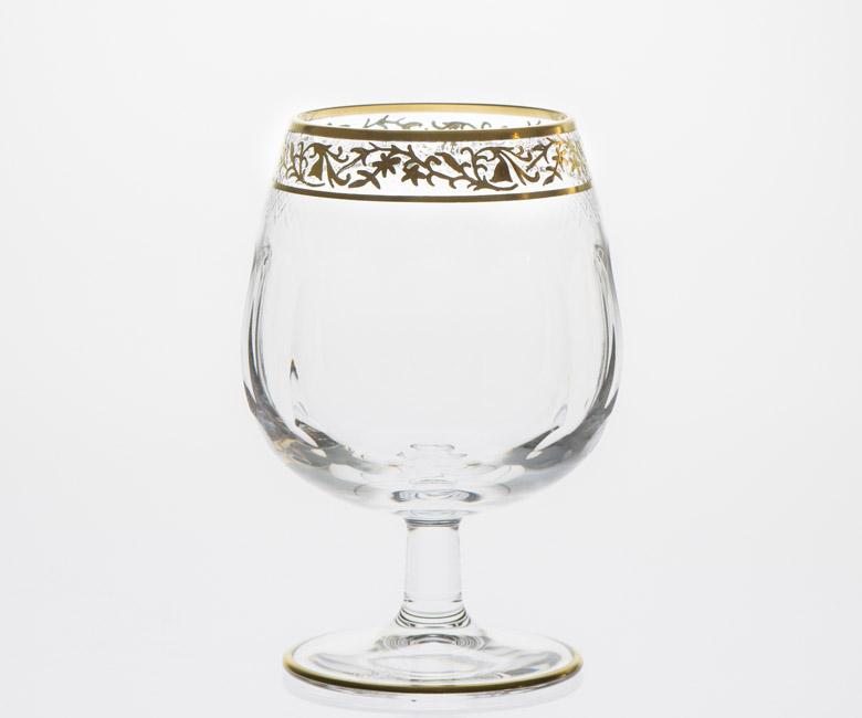 Набор хрустальных бокалов для бренди, коньяка на 6 персон Опера Золото|Платина