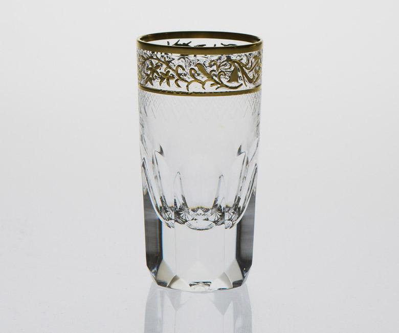 Набор хрустальных стопок для водки на 6 персон Опера Золото|Платина
