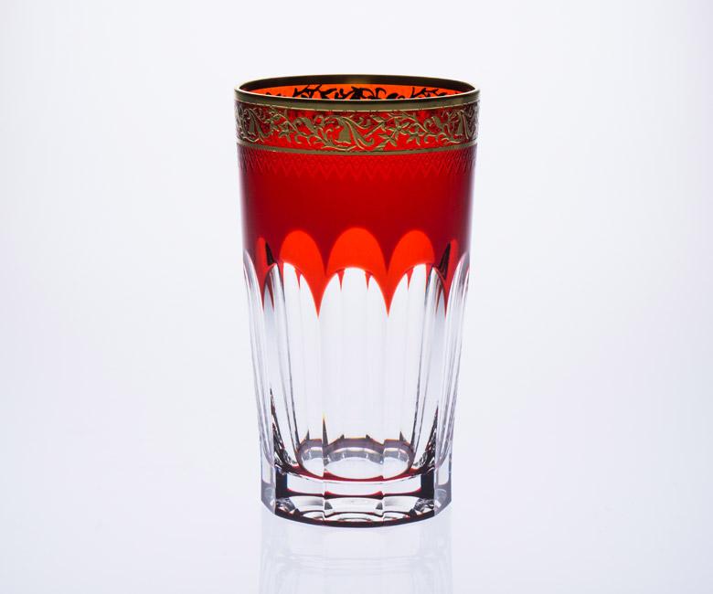 Коллекции бокалов из цветного хрусталя на 6 персон Опера, возможная инкрустрация Золото / Платина