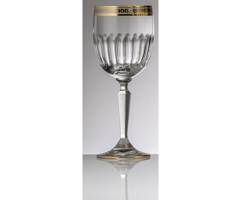 Набор хрустальных бокалов для красного вина на 6 персон Спиккато, инкрустация золото с платиной