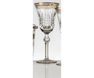 Набор хрустальных бокалов для воды на 6 персон Viktoria, инкрустация Золото|Платина