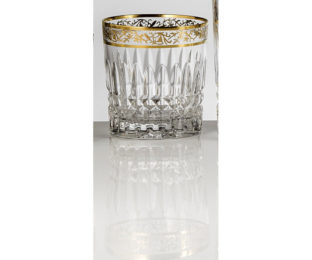 Набор хрустальных бокалов для виски на 6 персон Viktoria, инкрустация Золото|Платина