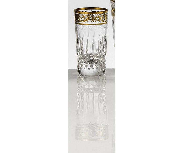 Набор хрустальных стопок для водки на 6 персон Viktoria, инкрустация Золото|Платина