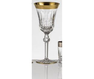 Набор хрустальных бокалов для воды на 6 персон Vladimir, инкрустация Золото|Платина