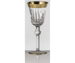 Набор хрустальных бокалов для белого вина на 6 персон Vladimir, инкрустация Золото|Платина