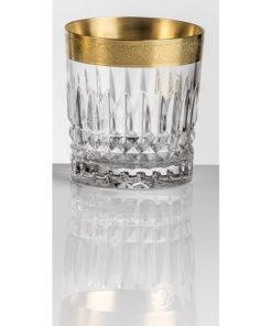 Набор хрустальных бокалов для виски на 6 персон Vladimir, инкрустация Золото|Платина