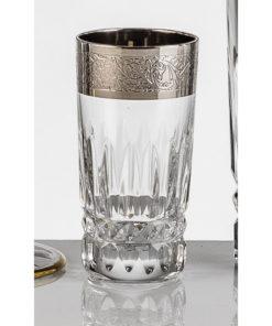 Набор хрустальных стопок для водки на 6 персон Vladimir, инкрустация Золото|Платина