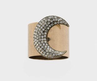 """Набор из двух металлических колец для салфеток с разноцветным декором  """"Лунная фантазия"""" Joanna Buchanan"""