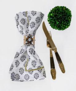 """Набор из двух металлических колец для салфеток с разноцветным декором  """"Радужная снежинка, золотая"""" Joanna Buchanan"""