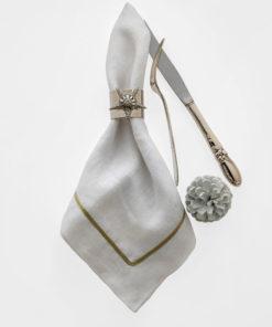 """Набор из двух металлических колец для салфеток с разноцветным декором  """"Звезда торжества, цвет серебро"""" Joanna Buchanan"""