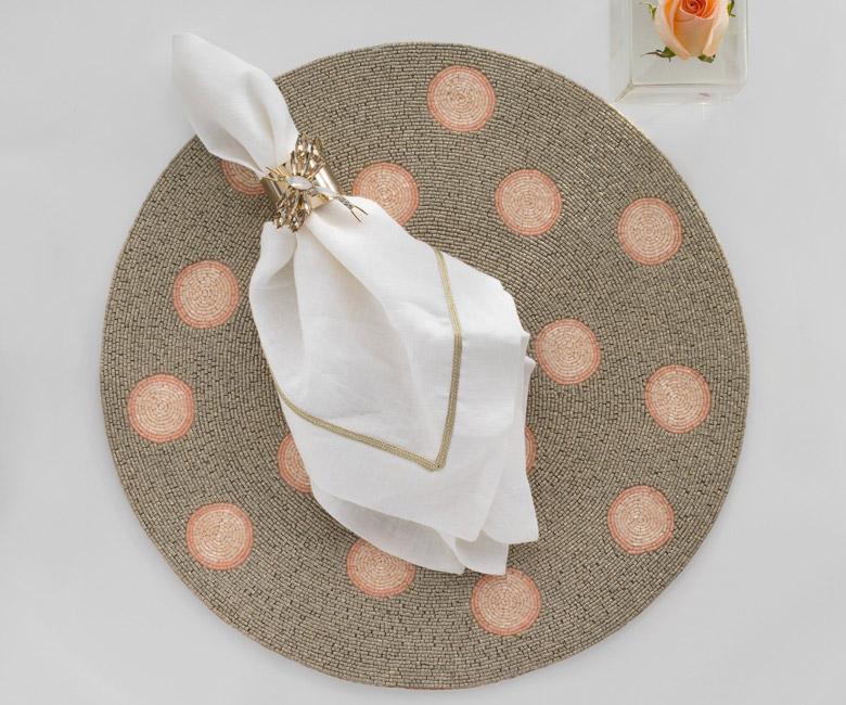 """Набор из двух металлических колец для салфеток с разноцветным декором  """"Стрекоза, цвет топаз"""" Joanna Buchanan"""