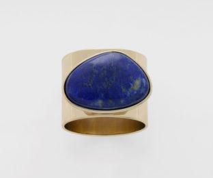 """Набор из двух металлических колец для салфеток с разноцветным декором  """"Перстень, лазурит"""" Joanna Buchanan"""
