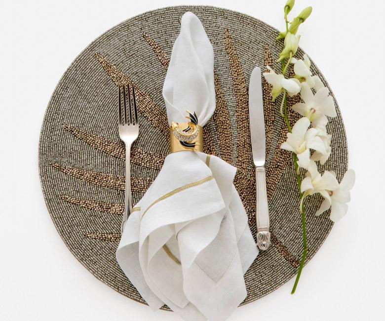 """Набор из двух металлических колец для салфеток с разноцветным декором  """"Золотая рыбка"""" Joanna Buchanan"""