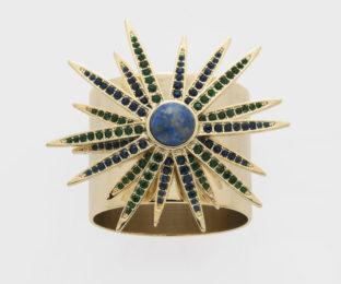 """Набор из двух металлических колец для салфеток с разноцветным декором  """"Рождение звезды, лазурь"""" Joanna Buchanan"""