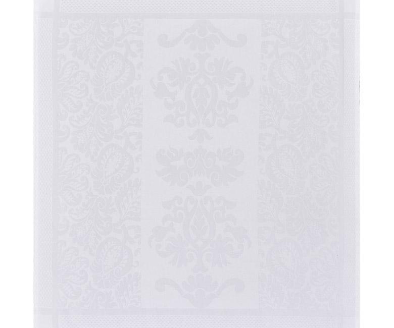"""Хлопковая белая салфетка из длинных волокон """"Siena Blanc"""" 58x58 см Le Jacquard Francais (Франция)"""