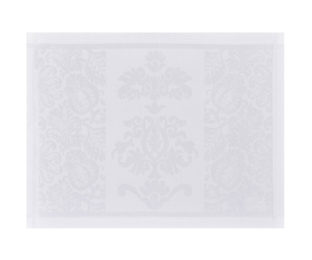"""Хлопковые белые подстановочные салфетки (плейсматы) из длинных волокон """"Siena Blanc"""" 50x36 см Le Jacquard Francais (Франция)"""