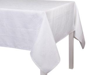 """Смесовая белая квадратная скатерть из длинных волокон хлопка и льна """"Bosphore Blanc"""" 175x175 см  Le Jacquard Francais (Франция)"""