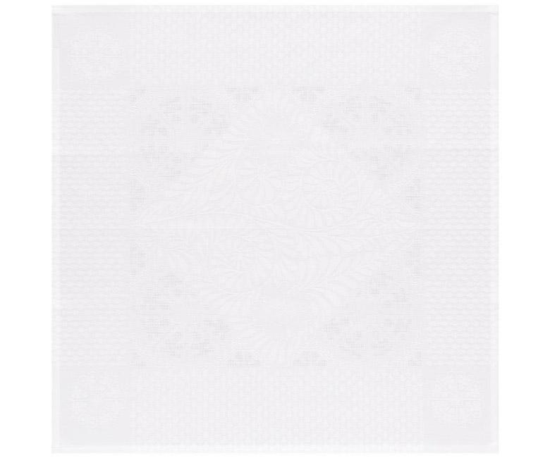 """Салфетка из длинных волокон хлопка и льна белого цвета """"Bosphore Blanc"""" 58x58 см Le Jacquard Francais (Франция)"""